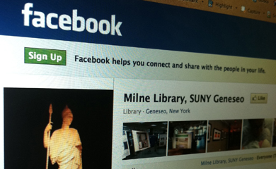 Milne Library Facebook page
